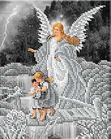 """Схема для вышивки бисером икона """"Ангел хранитель (серебро)"""""""