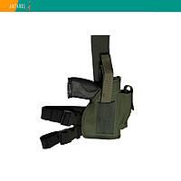 Кобура универсальная хаки набедренная с карманом для магазина (010), фото 1