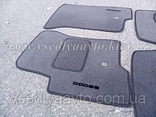 Ворсовые коврики в салон передние  Dodge Caliber (Серые)