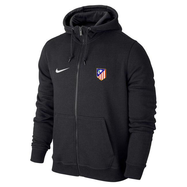 Мужская спортивная толстовка (кофта) Атлетико-Найк, Atletico, Nike, черная d30b56997b8
