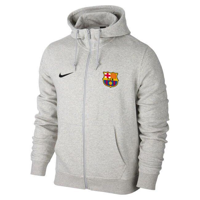 Мужская спортивная толстовка (кофта) Барселона-Найк, Barcelona, Nike, серая 6c7d4e40a8d