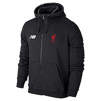 Мужская спортивная толстовка (кофта) Ливерпуль-Нью-беланс, Liverpool,New-balance, черная