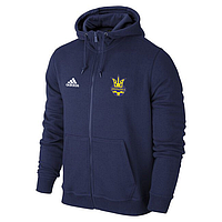 Мужская спортивная толстовка (кофта) Сборной Украины-Адидас, Adidas, синяя