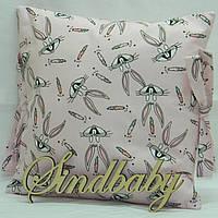 Бортики подушки в кроватку, Подушка бязь 30х30 -95
