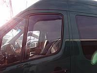 Дефлекторы окон (ветровики) Mercedes Sprinter/ VW Crafter 2006 -> (вст) 2шт (Heko)