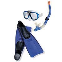 Детский набор для дайвинга Intex 55957 (маска, трубка, ласты), от 8 лет