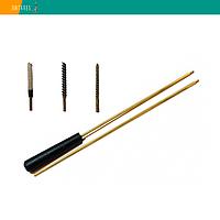 Набор для чистки пневматики 4.5 мм, шомпол, 3 ерша, упаковка ПВХ (04001), фото 1