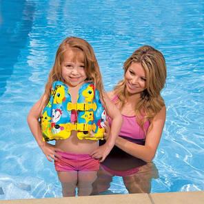 """Детский надувной жилет Intex 59661 """"Морская звезда"""", размер 41*30 см, от 3 до 5 лет, фото 2"""