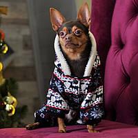 Теплая Зимняя  Одежда Комбинезон для собак Arctic