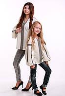"""Комплект вышиванок для мамы и дочки """"Думка"""" (серый), фото 1"""
