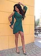 Стильное платье имитация фасона на запах / рос - креп / Украина 13-203, фото 1