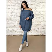 Вязаное платье-туника 44-46-48  размер 4цвета