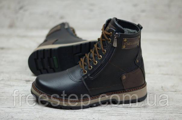 b6bc81154 Зимние ботинки в стиле Zangak, натуральная шерсть, кожа, черные , фото 1