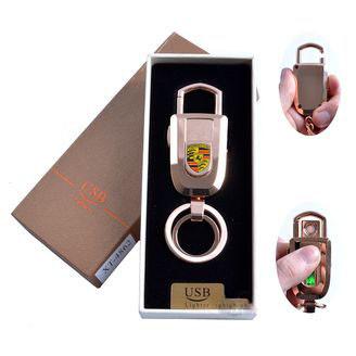 USB зажигалка-брелок в подарочной упаковке с подсветкой