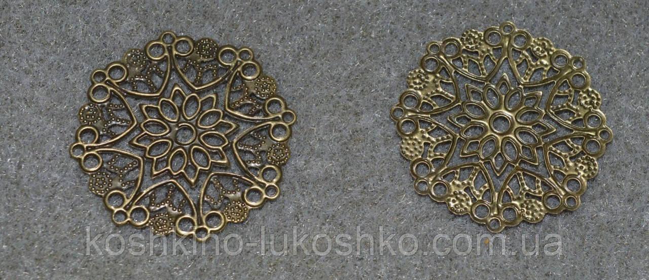 Филигрань цветок под  бронзу   35 мм