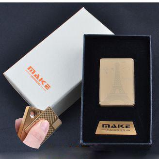 USB зажигалка-слайдер в подарочной упаковке MAKE