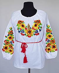 Женская блузка вышиванка «Украинский Подсолнух»