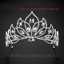 Корона, диадема, тиара, под серебро с камнями, высота 7,5 см.