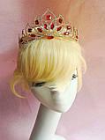 Свадебная корона, диадема, тиара, под серебро с камнями, высота 7,5 см., фото 5