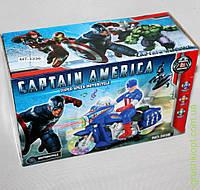 Мотобайк Капитан Америка в коробке, свет, звук, на батарейках.
