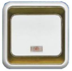 """ВС10-1-1-ЭБ Выключатель 1кл. с индикатором (белый) серия """"Элита"""""""