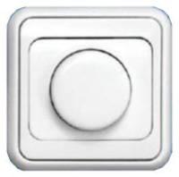 """ВСР10-1-0-ЭБ Светорегулятор для ламп накаливания 60-600Вт серия """"Элита""""  (белый)"""