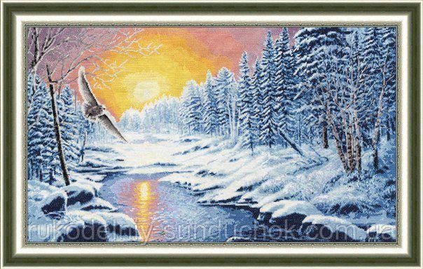 """Набор для вышивания крестом ТМ Золотое Руно """"Лесной страж. Лирический пейзаж """" ЛП-033"""