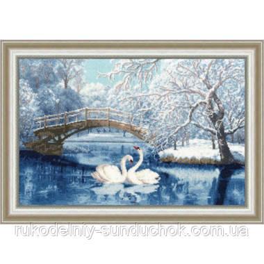 """Набор для вышивания крестом ТМ Золотое Руно """"Белые лебеди"""" ЛП-036"""