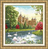 """Набор для вышивания крестом ТМ Золотое Руно """"Лебединое озеро. Лирический пейзаж """" ЛП-038"""