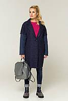 Пальто демисезонное женское комбинированное Кайра, фото 1