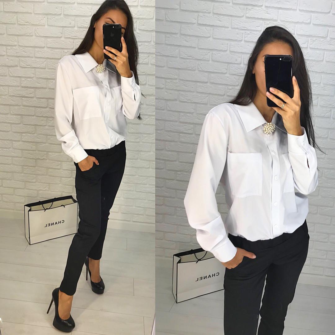 Костюм классический офисный штаны и блуза