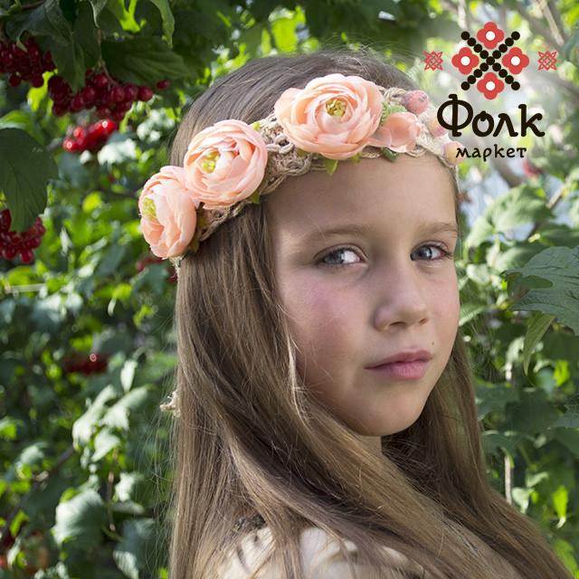 Очельник для девочки цветочный