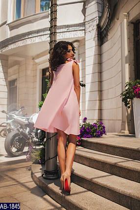 Летнее розовое платье, свободное, фото 2