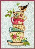DIMENSIONS Набор для вышивания Чашки / Stacked Tea Cups