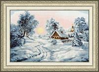 """Набор для вышивания крестом ТМ Золотое Руно """"Зимнее утро. Лирический пейзаж """" ЛП-046"""