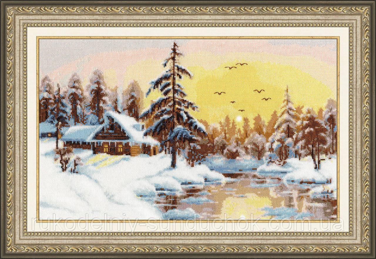 """Набор для вышивания крестом ТМ Золотое Руно """"Снежный рассвет """" ЛП-047"""