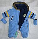 Зимний термокомбинезон для младенцев BEAR голубой (QuadriFoglio, Польша), фото 4