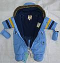 Зимний термокомбинезон для младенцев BEAR голубой (QuadriFoglio, Польша), фото 6