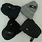 Шапка мужская вязаная зима, флис м 6118, разные цвета, фото 3