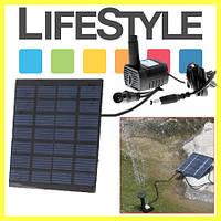 Фонтан на солнечных батареях с разными насадками! 11х11х2.5см