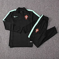 Мужской тренировочный костюм сборной Португалии. черный