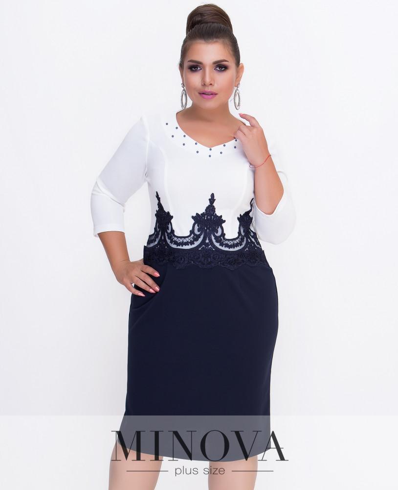 355eb9db9ca Шикарное приталенное платье батал (в расцветках) - купить по лучшей ...