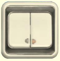 """ВС10-2-1-ЭС Выкл.  2кл. с индикатором (слоновая кость) серия """"Элита"""""""