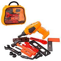 Набор инструментов 36778-129 (30шт) дрель-вращ.сверло,ключи, молоток,на бат-ке,в чемодане,27-22-7см