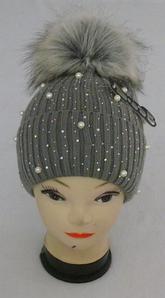 Шапка вязаная для девочки нить кашемир м 6148, разные цвета