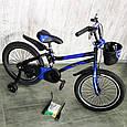 Детский велосипед c родительской ручкой и корзинкой HAMMER 16 дюймов S500 боковые колеса и насос от 5 лет, фото 9