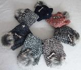Комплект шапка с бубоном и шарф-хомут зимний м 7022 разные цвета, фото 3
