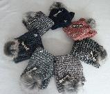 Комплект шапка с бубоном и шарф-хомут зимний м 7022 разные цвета, фото 4