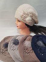 Берет женский зима на флисе