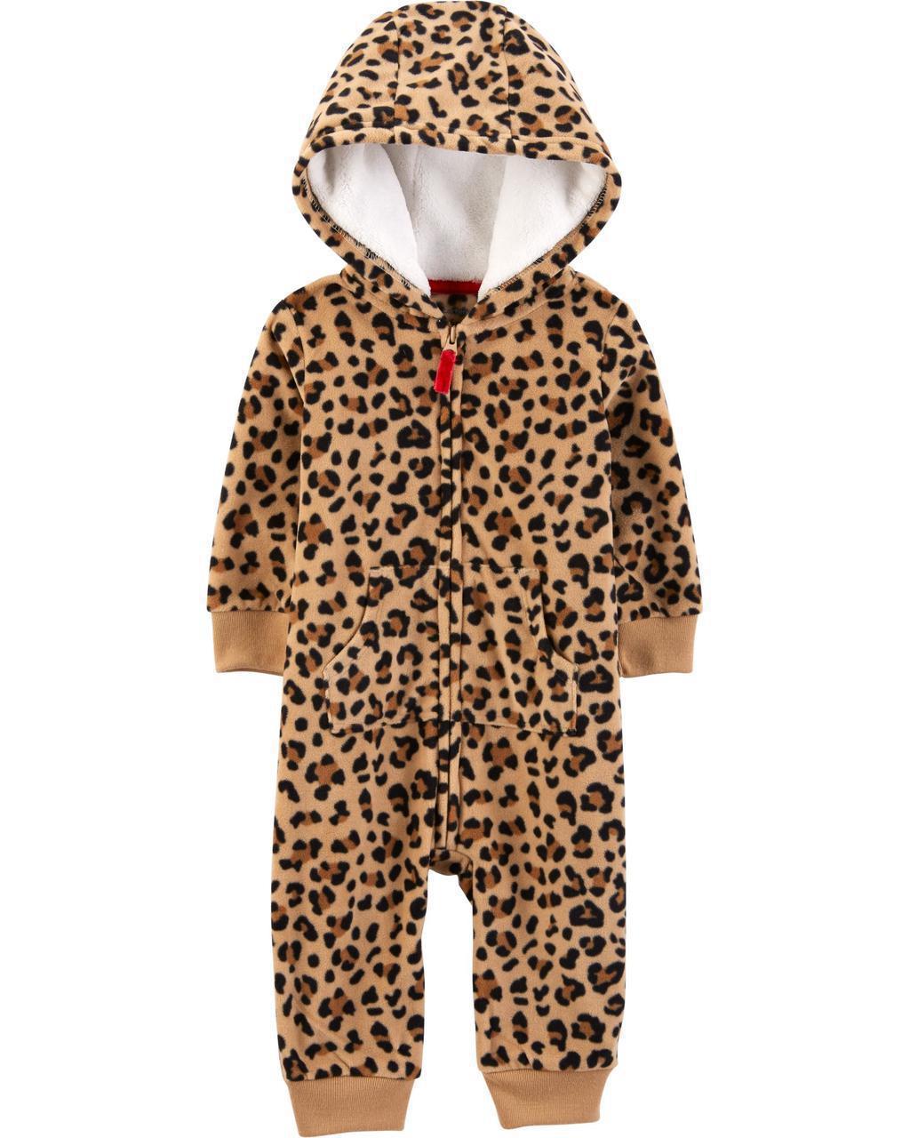 Комбинезон флисовый с капюшоном Carters для новорожденной девочки 46-55 см